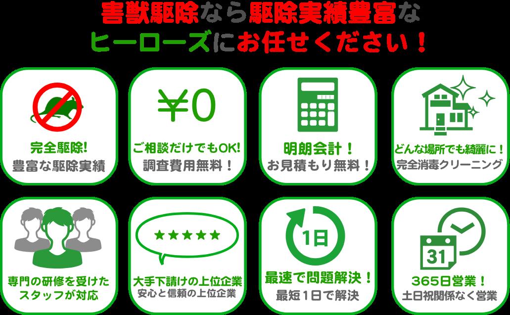 東京都西東京市で害獣が増えています。個人での駆除はせずに、害獣駆除専門のヒーローズへご連絡ください!
